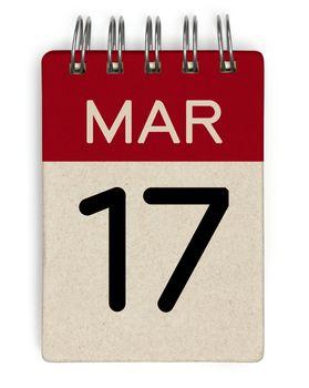 17 mar calendar