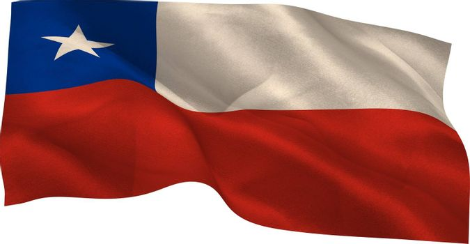 Digitally generated chile national flag