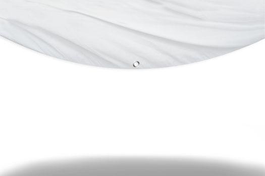White curtain blind