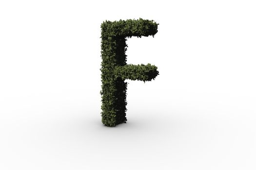 Capital letter f made of leaves