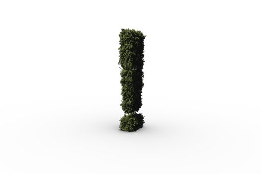 Exclamation mark made of leaves