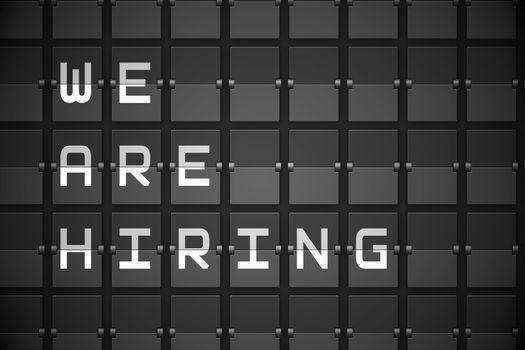 We are hiring on black mechanical board