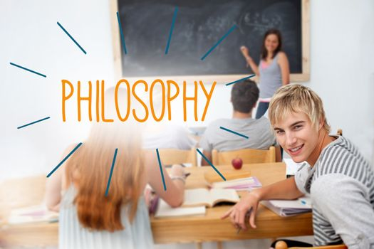 Philosophy against students in a classroom