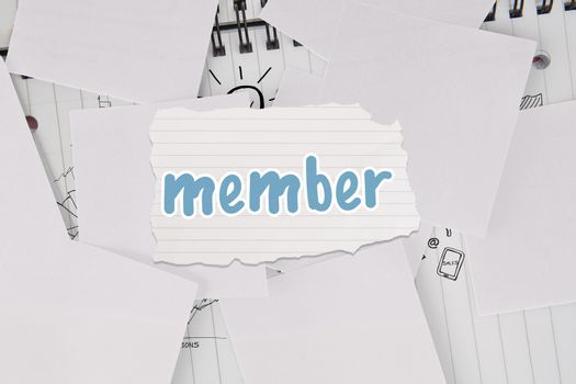 Member against brainstorm covered by white paper