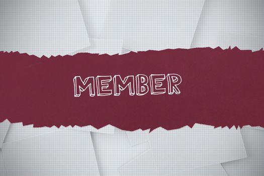 Member against digitally generated grid paper strewn