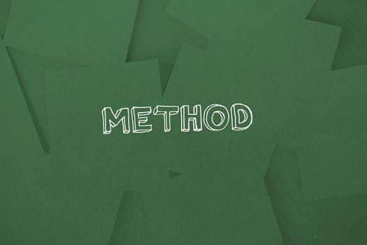 Method against digitally generated green paper strewn