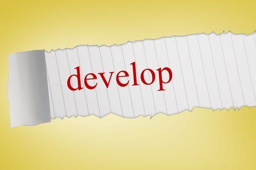 Develop against yellow vignette
