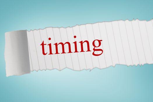 Timing against blue vignette