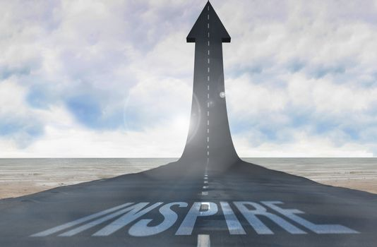 Inspire against road turning into arrow