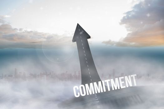 Commitment against road turning into arrow