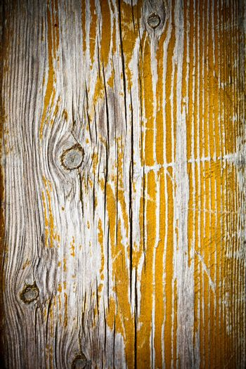painted old wooden yellow