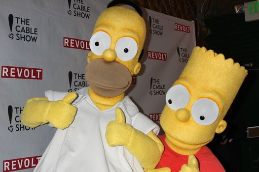 Homer Simpson, Bart Simpson at the NCTA's Chairman's Gala Celebration of Cable with REVOLT, The Belasco Theater, Los Angeles, CA 04-30-14/ImageCollect