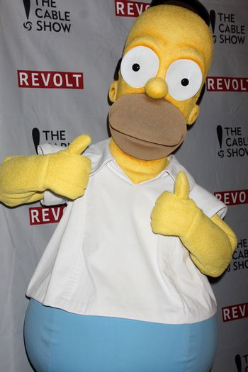 Homer Simpson at the NCTA's Chairman's Gala Celebration of Cable with REVOLT, The Belasco Theater, Los Angeles, CA 04-30-14/ImageCollect