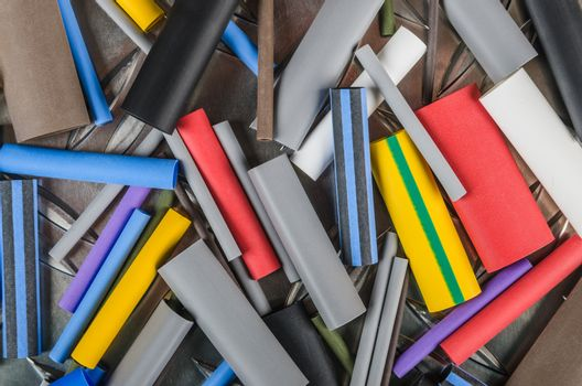 Set Heat Shrink Tubing to protect cables isolation, a close up