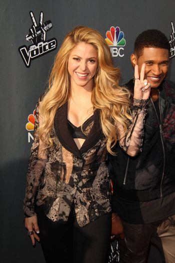 """Shakira at NBC's """"The Voice"""" Red Carpet Event, The Sayers Club, Hollywood, CA 04-03-14"""