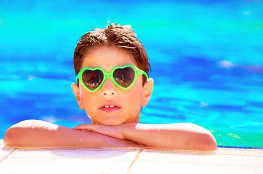 Pretty boy in the pool