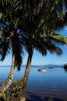 Savusavu harbor, Vanua Levu island, Fiji