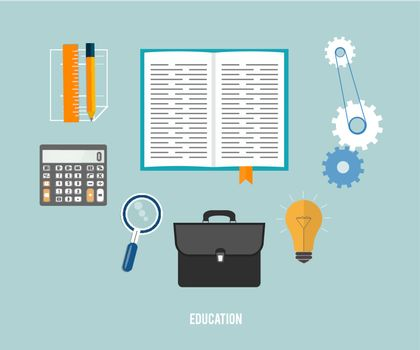 Business, office and education items icons.