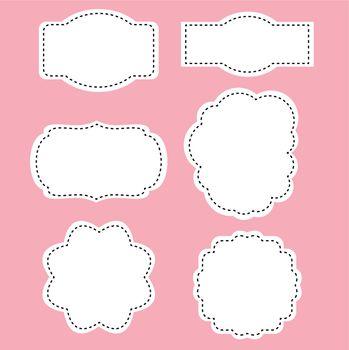 Beautiful simple tags set. Vector Illustration