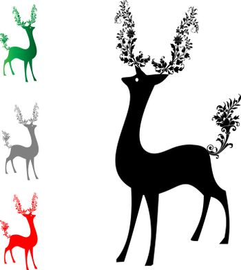 He and tail deer adorned