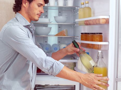 Man near Refrigerator