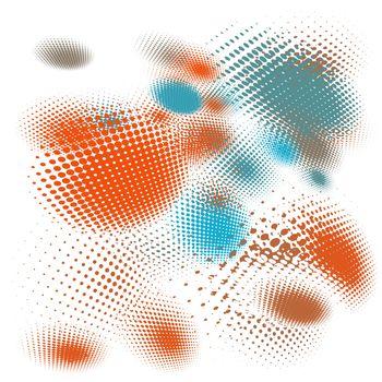 Halftone vector illustration Set background. EPS 10 vector file included