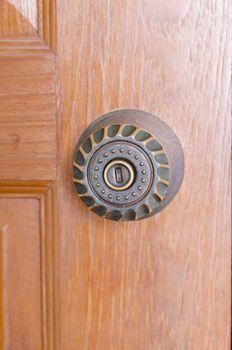 door knob and key hole