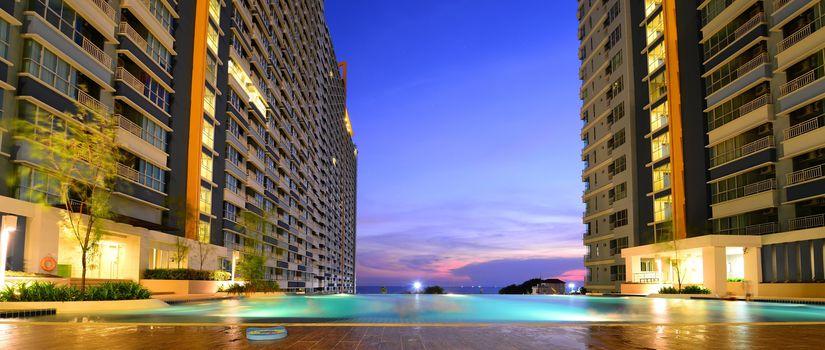 Modern apartments panorama