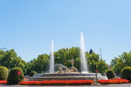 Neptun fountain in Madrid