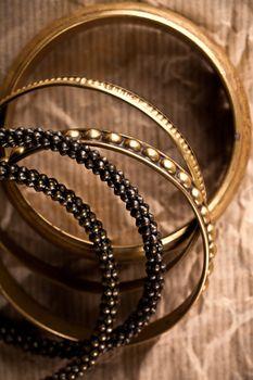 golden vintage bracelets