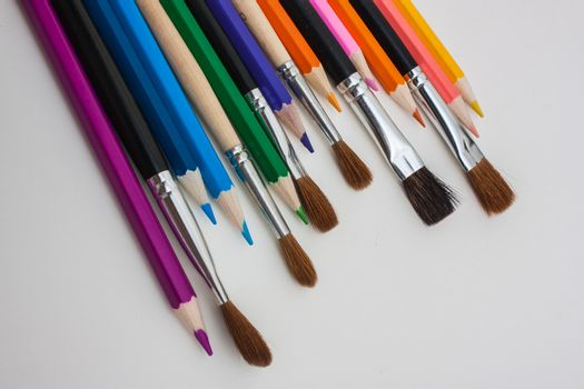 drawing tools on white background