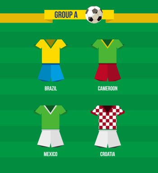 Brazil Soccer Championship 2014 Group A team