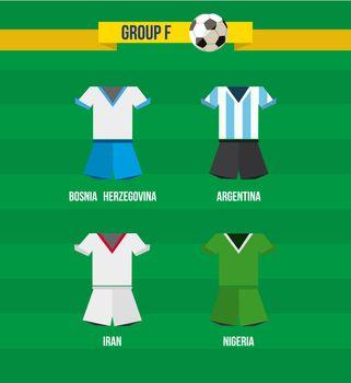 Brazil Soccer Championship 2014 Group F team