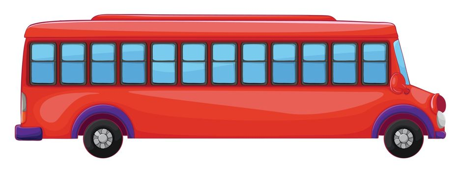 illustration of a bus on a white background