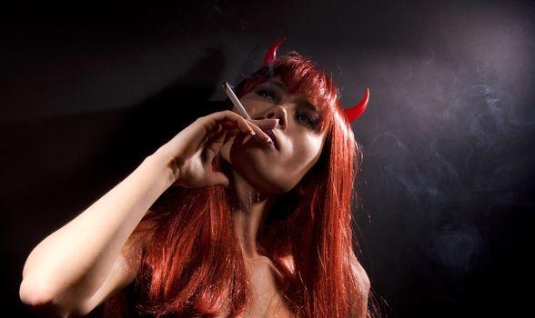 smoking devil
