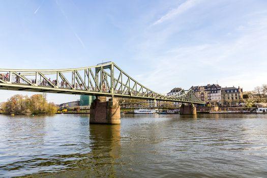 river main with bridge eiserner steg