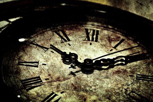 Grunge Clock Background Texture
