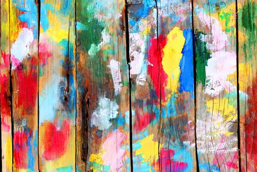 Multi colored wooden background