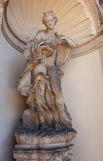 sculpture in the palace in Dresden, eastern Germany, built in Ro