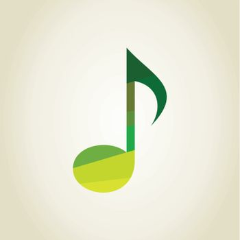 The musical green note made of rags