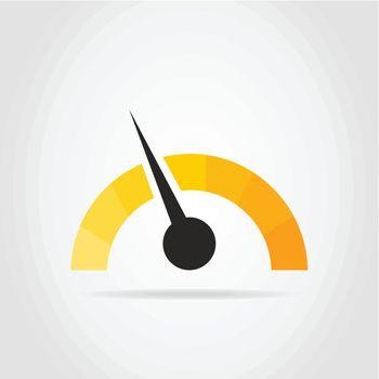 Arrow on a car speedometer