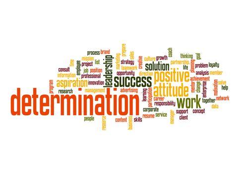 Determination word cloud