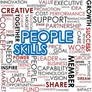People skill word cloud