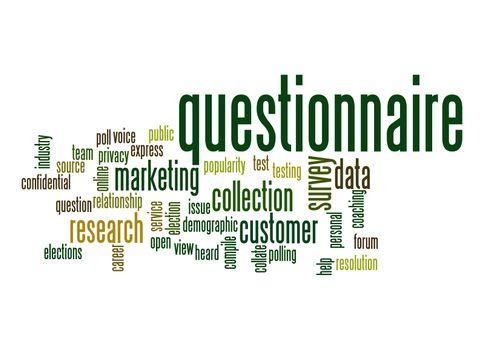 Questionnaire word cloud