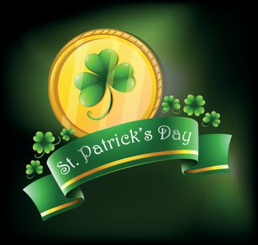 Illustration of the symbols for St. Patrick's celebration