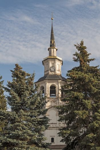 Bell tower of the Assumption Cathedral (17th century) in Veliky Ustyug, North Russia