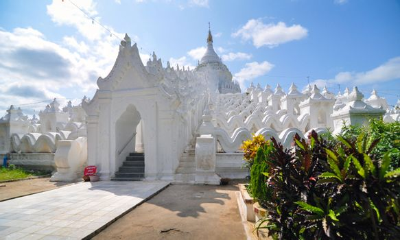 White pagoda of Hsinbyume (Mya Thein Dan pagoda ) paya temple