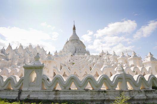 White pagoda of Hsinbyume paya temple, Mingun, Mandalay