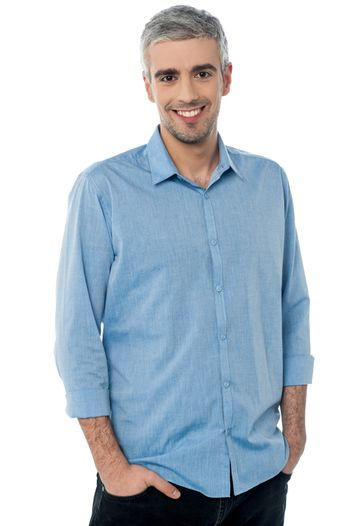 Casual shot of smiling businessman