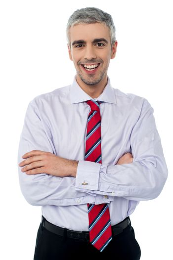 Cheerful young young business man